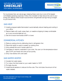 Gas Checklist